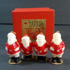 Box Tavern 1940s Christmas Santa Claus Figural Candles