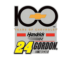 JEFF GORDON #24 HENDREICK SALUTE100 YEARS TO CHEVROLET TEAM PIN 2011