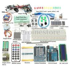 Ultimate UNO R3 Starter Kit For Arduino 1602 LCD Motor Relé Módulo RTC LED Servo