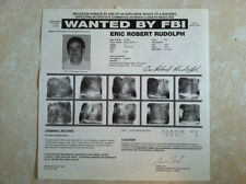 "*RARE* ERIC ROBERT RUDOLPH ""OLYMPIC PARK BOMBER"" FBI WANTED POSTER *MAKE OFFER*"