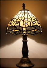 Tiffany Style Table Lamp Bedside Handcrafted Stained Lamps Glass Art Desk Light