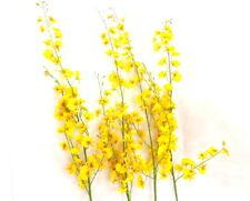 Künstliche Seidenblumen Orchideen Gelb 4 Zweige 100 cm  Dekoration Top !