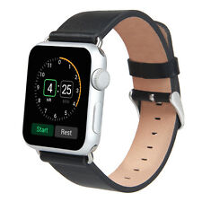 Luxburg® Apple Watch Lederarmband f Series 1 / 2 / Edition, 42mm Schwarz