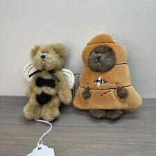 Boyds Bears Head Bean Heirloom Series Ornament mini Costume Bears Bizz & Beezley