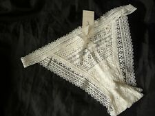 XL,Gilly Hicks Vintage style Lace Cheeky panty,cream,polyamide, NEW