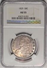 1829 50c NGC AU 55 Choice Almost Uncirculated Capped Bust Half Dollar Type Coin