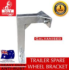 SPARE WHEEL CARRIER HOLDER GALVANISED L- BRACKET CAMPER TRAILER BOAT KIT