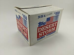 1991 Topps Desert Storm Series 1 Cards Complete Factory Case w/ 24 Boxes