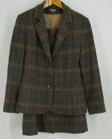 Vtg Salem USA Poly Blend Soft Wool Tweed Look Multicolor Skirt Blazer Suit 9/10
