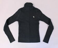 Abercrombie & Fitch Ribbed Knit Turtleneck Long Sleeve Sweater MW7 Black Small