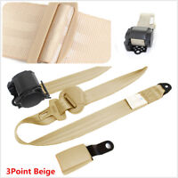 Car Safety Seat Belts Lap Belt Seatbelts for Auto Cars With Curved Rigid Buckle