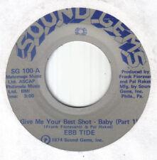 """Northern 70's Philadelphia Soul 7""""-Ebb Tide-Give Me Your Best Shot-US Sound Gems"""