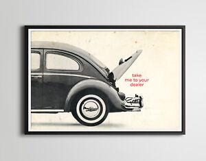 "1963 Volkswagen Dealer Service Card POSTER! (up to 24"" x 36"") - Antique VW"