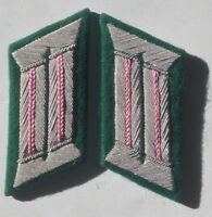 WW2 GERMAN ARMY OFFICER COLLAR TABS PANZER PINK