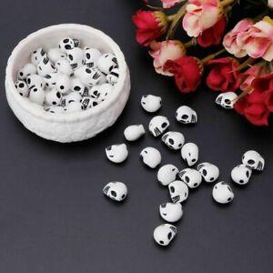 30pc Bag of Art Star HalloweenSkull Head Beads For DIY Jewellery Fun