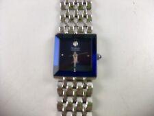 """Armitron Diamond """"Now"""" Ladies Blue / Silver Color Watch Cobalt Face"""