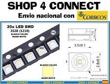 20 LED SMD BLANCO CALIDO WARM WHITE 3528 / 1210 CAR automocion ARDUINO 3.5 x 2.8