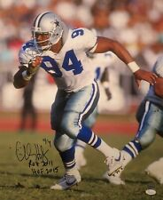 "Charles Haley Signed Dallas Cowboys 16x20 Photo ""ROH 2011/HOF 2015"" JSA W834549"