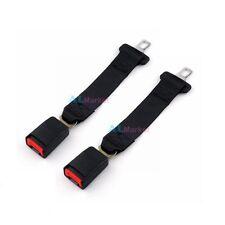 2 PCS Black 14 inch Car Truck Seat Belt Extension Extender Strap Safety Buckle