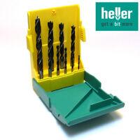 HELLER Holzbohrer Satz CV, Bohrerset 10 tlg. Spiralbohrer Holzbohrerset 3-12mm