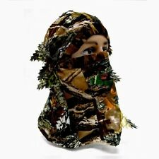 Woodland Camo 3D Camouflage Leaf Ghillie Suit Face Mask Paint Hunting Realtree