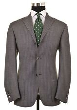 RECENT Corneliani TREND Gray Herringbone TWEED Wool 2pc Suit Jacket Pants 50 40