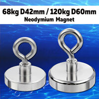 230/500KG Neodymium Recovery Magnet Strong Metall D80/D97mm Detector Treasure -