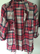 primark red checked shirt size 8