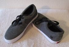 NEW Vox Boys Casual Leather Skate Shoes 5.5 Dark Grey MSRP$45