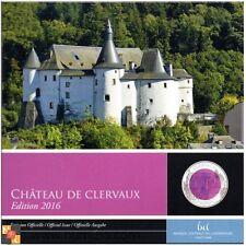 LUXEMBURGO 5 Euro Plata-Niobio 2016 Castillo de Clervaux (Proof) LUXEMBOURG