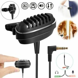 Mini Microphone Condenser Clip-on Lapel Lavalier Mic Wired for Phones Laptop PC