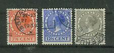Niederlande Briefmarken 1928 Freimarken  Mi.Nr.215-17