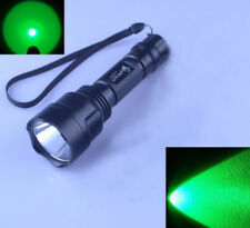 Ultra Fire C8 CREE XPE Green LED 1 Mode 18650/CR123A Hunting Flashlight Torch