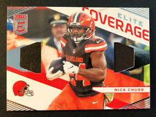 2019 Elite Coverage Jersey Card Nick Chub #EC-7 Cleveland Browns Mint