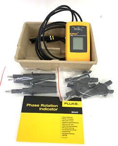 Fluke 9040 Digital Phase Rotation Indicator Tester Meter