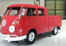 G LGB 1:24 Echelle VW T1 Type 2 Double Cabine Pickup Rouge Modèle moulé Van 1962