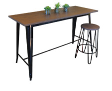 Replica Tolix Counter Table 152x60x91cm, wooden top – 4 Colour Choices for base