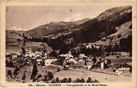 CPA  Savoie - Flumet - Vue générale et le Mont-Blanc   (352193)