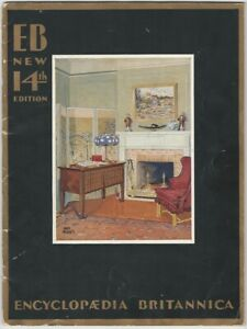 1930 Encyclopaedia Britannica 14th Edition Prospectus Booklet Encyclopedia Book