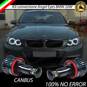 COPPIA LAMPADE H8 LUCI DI POSIZIONE LED BMW SERIE 3 E91 6000K CANBUS ANGEL EYES