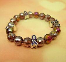 Pancreatic Cancer Awareness Glass Beaded Ribbon Bracelet