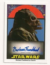 2017 TOPPS STAR WARS 1978 SUGAR-FREE WRAPPERS BARBARA FRANKLAND AUTO #23/50 BLUE