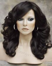farrah fawcett Wig Glamorous New Big open Wavy Medium Brown Wig Medium  CA 6