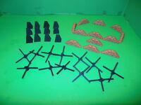 BMC VALUE WWII Battlefield Accessories  Pack Sandbags, Tank Traps, Belgian Gates