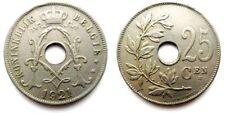 54 pièces monnaies 25 centimes Belgique anciennes