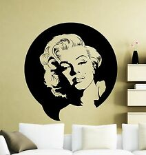 Marilyn Monroe Wall Decal Vinyl Music Singer Sticker Decor Home Mural (23mu)