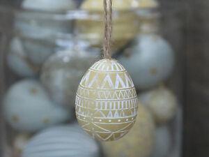 Chic Antique Osterei Ei melone gelb antik Osterdeko Ostern Shabby Vintage