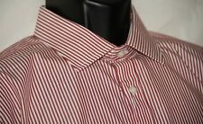NWT Men's T.M. Lewin 17.5 36 slim fit striped shirt w 2Fold cotton
