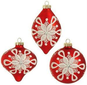 Raz Glass Christmas Winter Ornaments For Sale Ebay