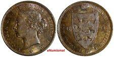 Jersey Victoria Bronze 1894 1/12 Shilling Mintage-180,000  aUNC KM# 8 (15 534)